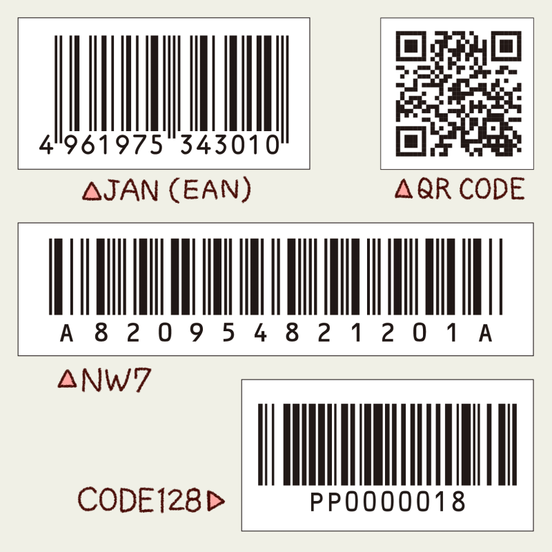 各種バーコード