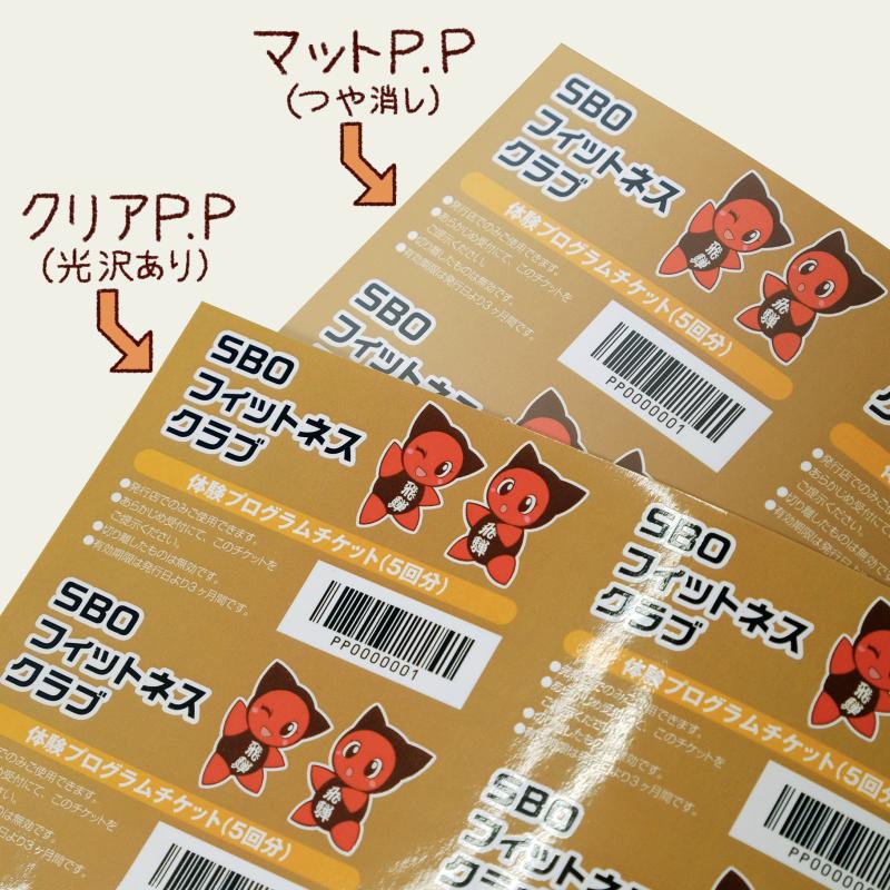 PP加工(マット・クリア)